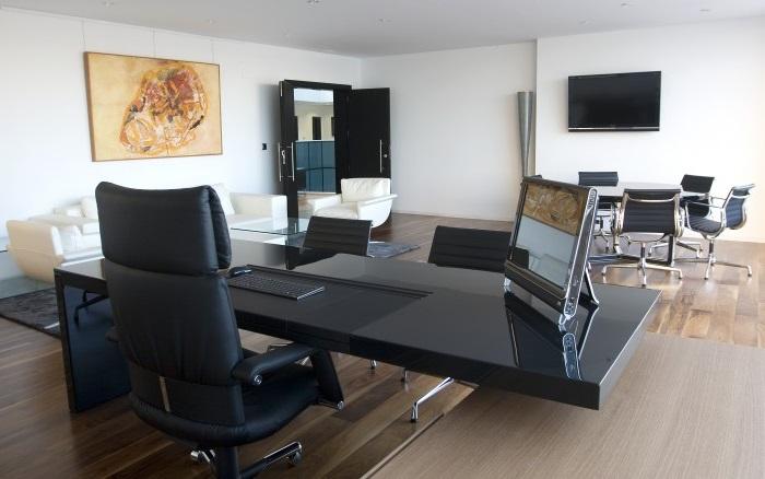 administración de fincas de despachos en Valencia - negro