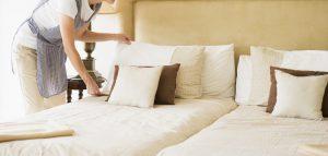 limpieza de hoteles en Sevilla - cama hecha